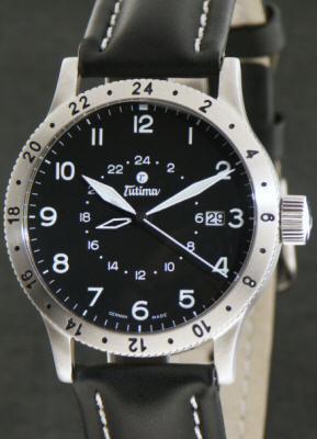 Tutima Pilot Fx Wrist Watches Fx Utc 24hr Bezel 633 01