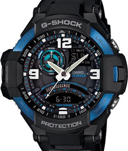 casio g shock wrist watches g shock aviation twin sensor. Black Bedroom Furniture Sets. Home Design Ideas