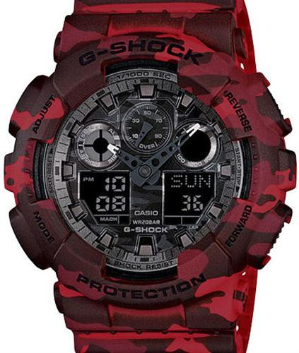 casio g shock wrist watches g shock red camouflage. Black Bedroom Furniture Sets. Home Design Ideas