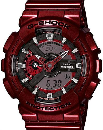 casio g shock wrist watches g shock ana digital red. Black Bedroom Furniture Sets. Home Design Ideas