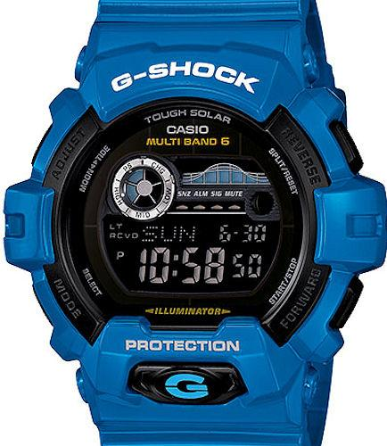 casio  shock wrist watches  shock blue tide graph moon gwxd cr