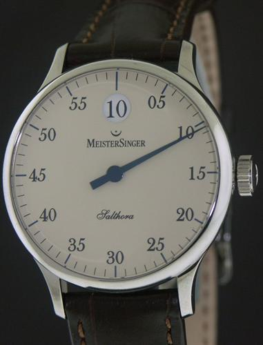 Meistersinger Single Hand Wrist Watches Jump Hour Ivory
