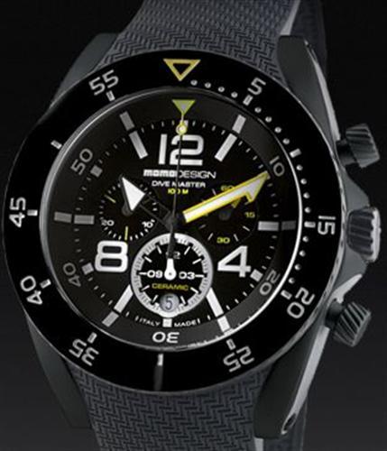 Momodesign dive master wrist watches dive master ceramic chrono md281bk 01bkbk rbbk - Momo design dive master ...