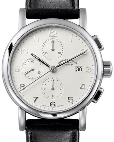 Muhle glashutte classic line wrist watches antaria chrono opaline silver m1 39 05 lb for Muhle watches