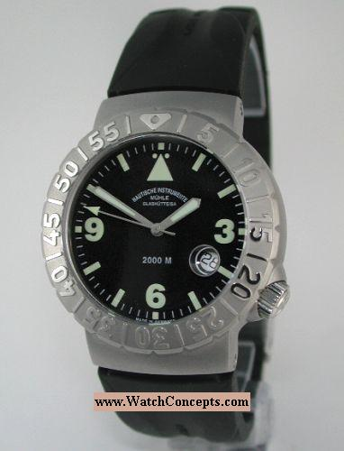 Muhle Glashutte Search And Rescue wrist watches: Nautic Timer On Rubbe