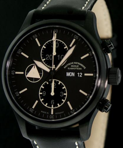 Muhle glashutte terranaut wrist watches terranaut i trail pvd m1 40 63 lb for Muhle watches