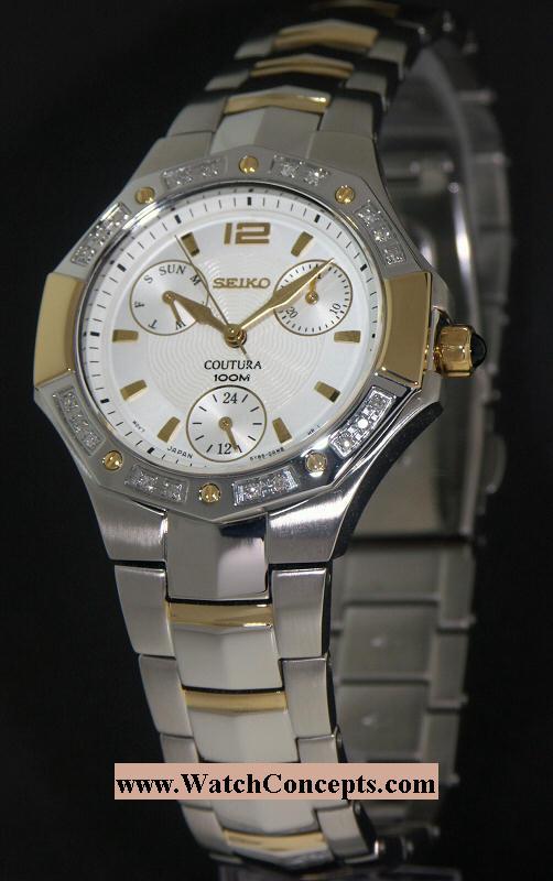 Seiko Coutura wrist watches: Multi Hand Calendar suk008