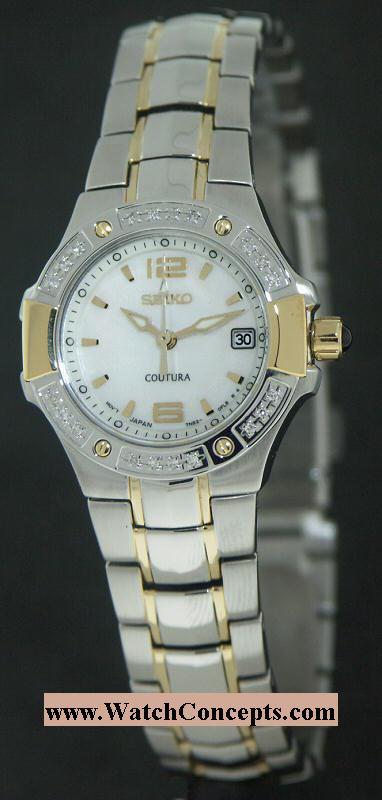 Seiko Coutura wrist watches: Coutura Diamond Bezel sxd692