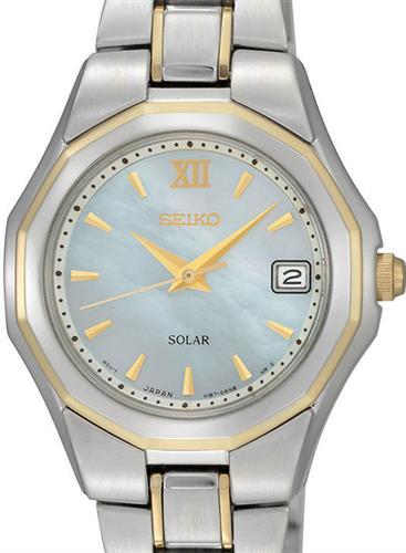 Seiko Sport Wrist Watches Sport Solar 2 Tone Mop Dial