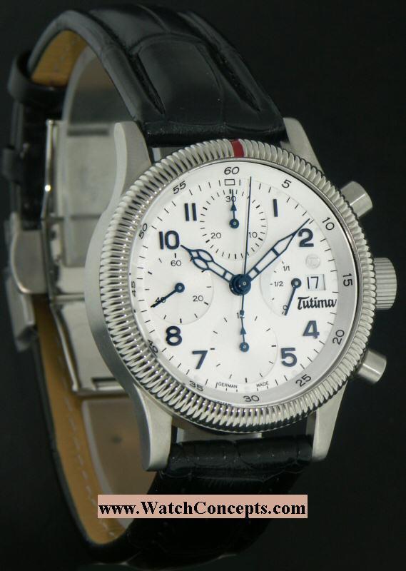 Tutima Flieger wrist watches: F2 Power Reserve White 780-81