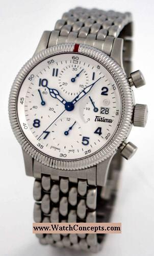 Tutima Flieger wrist watches: F2 Power Reserve White 780-82