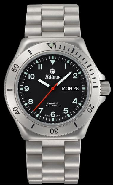 Tutima Military wrist watches: Tutima Pacific Arabic Dial 677-03