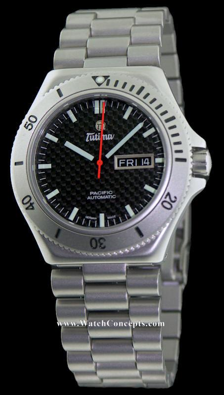 Tutima Military wrist watches: Tutima Pacific Carbon Dial 677-05